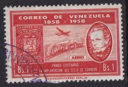 Venezuela 1958, Train, Minr 1297 Vfu - Venezuela