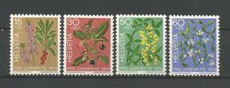 Switzerland 1974 Forest Plants Y.T. 972/975 ** - Neufs