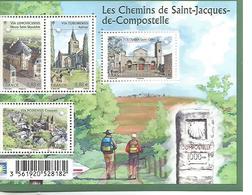 F4725 Les Chemins De St Jacques De Compostelle 4 étapes 2013 - Ungebraucht