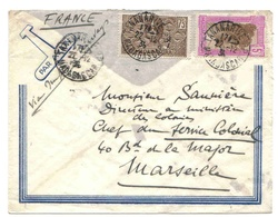 Madagascar Madagaskar Tananarive 1936 Lettre Avion Belege Brief Flugpost Airmail Cover - Madagascar (1889-1960)