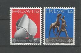 Switzerland 1974 Europa Sculptures Y.T. 954/955 ** - Neufs
