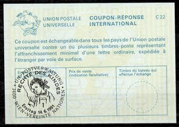 UNITED NATIONS VIENNA RECHTE DES KINDES / RIGHTS OF THE CHILDInt. Reply Coupon Reponse IRC IAS Antwortschein La25 o - Centre International De Vienne