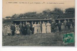 PACY-sur-EURE : Les Fetes Septembre 1913 Comité Attend Les Aviateurs - Tres Bon Etat - Pacy-sur-Eure