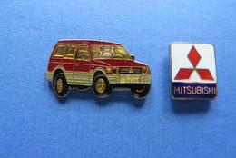 2 Pin's,MITSUBISHI, AUTO,VOITURE - Mitsubishi