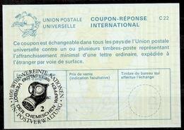 UNITED NATIONS VIENNA CHEMISCHE WAFFEN CHEMICAL WEAPONS GASMASKE Int. Reply Coupon Reponse IRC IAS Antwortschein La25 - Centre International De Vienne