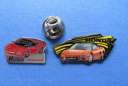 2 Pin's,HONDA,NSX,GARAGE HIRSCH,SUISSE - Honda