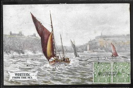 REPRODUCTION ANGLETERRE - Whitby, From The Sea - Whitby