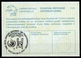 UNITED NATIONS VIENNA MENSCHENRECHTE HUMAN RIGHTS  DROITS DE L'HOMME Int. Reply Coupon Reponse IRC IAS Antwortschein - Centre International De Vienne