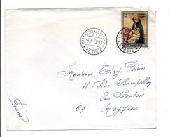 VATICAN LETTRE POUR LA FRANCE 1972 - Covers & Documents