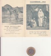 Soeurs Missionnaires De ND D'Afrique 1944 - Calendriers