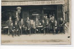 CARTE PHOTO A LOCALISER : Paris(?) M. Rogez Rendez-vous Des Boulangers, Restaurant Telephone - Etat - Photos