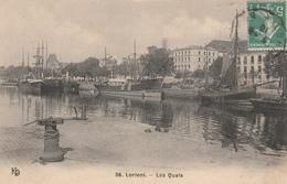56 LORIENT   Les Quais          TB PLAN  1910 RARE - Lorient