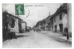 38  -  CPA  De  CHAMPIER  -  Route  De  Lyon  (  Très  Animée  ) - Sonstige Gemeinden
