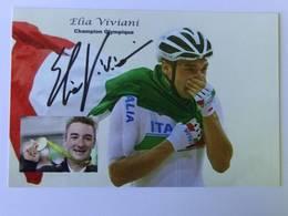 Elia VIVIANI - Signé / Hand Signed / Dédicace Authentique / Autographe - Wielrennen