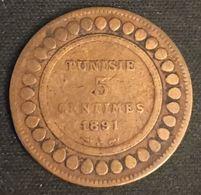 TUNISIE - TUNISIA - 5 CENTIMES 1891 ( 1308 ) - KM 221 - Ali - Protectorat Français - Tunisia