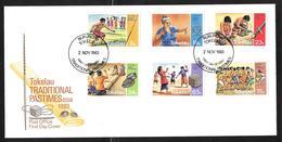 Tokelau - 1983 Traditional Games & Pastimes Set 6v Se Tenant On Illustrated FDC - Tokelau