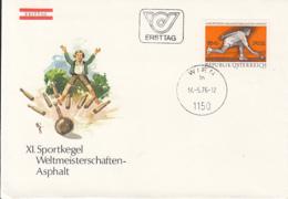 SPORTS, BOWLS, BOWLING, COVER FDC, 1976, AUSTRIA - Bowls