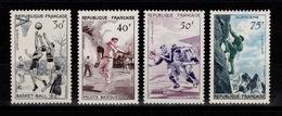 Serie Alpinisme 1956 YV 1072 à 1075 N** MNH Cote 25 Euros - Nuovi