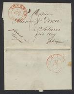 """Précurseur - LAC Datée De Francomont (1836) + Cachet Dateur à Perles """"Tongres"""" , Franco à Tongres > Solières (Huy) - 1830-1849 (Belgique Indépendante)"""