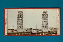 Italie Pisa Tour De Pise Photos Stréoscopiques - Stereoscopio