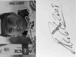 Ski - Alberto TOMBA- Signé / Hand Signed / Dédicace Authentique / Autographe - Wintersport