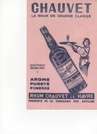 Buvard Rhum Chauvet - Liquor & Beer