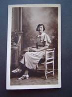 PHOTOGRAPHIE BOURDILLAT - TOULON Ancienne 1935 : PORTRAIT JEUNE FEMME - Personnes Anonymes