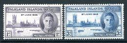 Falkland Islands 1946 Victory Set MNH (SG 164-165) - Falklandeilanden