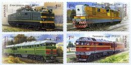 UKRAINE/UKRAINA 2009 MI.1042-45**,YVERT&T 945-48, Sc. 769-72, Locomotives, Railway, Trains, MNH - Ukraine