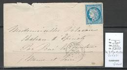 France - Lettre - GC4031 - Les Trois Moutiers - Vienne -1873 - Poststempel (Briefe)