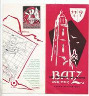 Dépliant Touristique, 44, BATZ SUR MER , 6 Pages, 2 Scans , Frais Fr 1.55 E - Folletos Turísticos