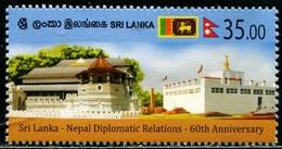 Sri Lanka (2020) - Set -   /  Joint Nepal - Flags - Heritage - Emissioni Congiunte