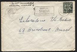 """N°768 ANTWERPEN S/L 1949. Man.""""Bevat Vermoedelijk Verboden Waarden""""+décalque Crayon Relief Pièce Monnaie.Original (x168 - 1948 Export"""
