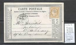 France - CP Précurseur  -  GC 3929 - THENEZAY - Deux Sevres - Facteur B IDENTIFIE DE PRESSIGNY -1873 - Marcophilie (Lettres)