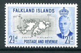 Falkland Islands 1952 KGVI Pictorials - 2½d Map Of The Islands HM (SG 175) - Falkland