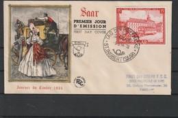 Sarre  FDC Du 18 Mai 1954 Du N°329 - Cartas