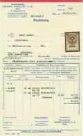 """Österreich Wien 1929 Rechnung Deko + Fiskalmarke """" GEORG SCHICHT AG Fettwaren Taborstrasse """" - Austria"""