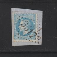 29 A De 1867  - Oblitéré Sur Fragment - Type Napoléon III . Empire Français - Petits Points  - 20c . Bleu  - 2 Scannes - 1863-1870 Napoléon III Lauré