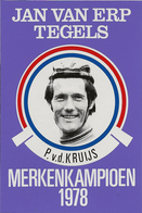 CARTE CYCLISME P. VAN DE KRUIJS TEAM JAN VAN ERP 1978 FORMAT 7,6 X 11 - Cyclisme