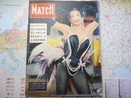 Paris Match N°412 2 Mars 1957  La Nouvelle Miss Zizi Jeanmaire / Elizabeth Et Philip Réunis à Lisbonne / Toscannini - Testi Generali