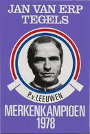 CARTE CYCLISME P. VAN LEEUWEN TEAM JAN VAN ERP 1978 FORMAT 7,6 X 11 - Cyclisme