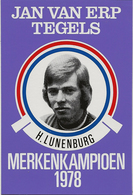 CARTE CYCLISME H. LUNENBURG TEAM JAN VAN ERP 1978 FORMAT 7,6 X 11 - Cyclisme