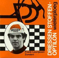 CARTE CYCLISME FRANK LAURIJSSEN TEAM DRIESSEN 1978 FORMAT 8 X 7,5 - Cyclisme