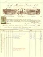 """Österreich Wien 1935 Rechnung Besonders Deko + Fiskalmarke """" JOSEF MANNER & Comp AG Schokoladenfabrik """" - Autriche"""