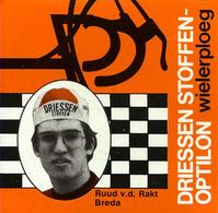 CARTE CYCLISME RUUD V. D. RAKT TEAM DRIESSEN 1978 FORMAT 8 X 7,5 - Cyclisme