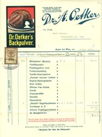 """Österreich Baden B Wien 1928 Farbige Rechnung Besonders Deko + Fiskalmarke """" Dr. A. OETKER Backpulver"""" - Autriche"""