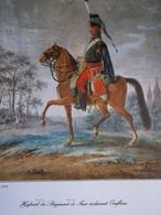 Lieutenant Barbier- Hussard Du Régiment De Saxe -planche édition Originale ! - Other