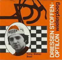 CARTE CYCLISME TONY WEBER TEAM DRIESSEN 1978 FORMAT 8 X 7,5 - Cyclisme