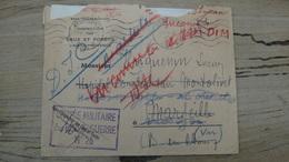 Lettre Avec Courrier En Franchise CENTRE MILITAIRE BOIS DE GUERRE N°26 - 1941 - Marcophilie (Lettres)
