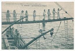 MARINE - N° 77 - LES HOMMES AU TANGON - DOCUMENT PRIS A BORD DE L'IENA AVANT L'EXPLOSION DU 12 MARS 1907 - Warships